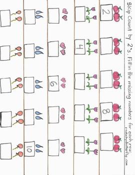 Skip Counting Hand-Drawn Printables!