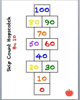 Skip Counting Hopscotch By 10, 5 and 2