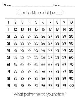 Skip Counting Hundred Charts