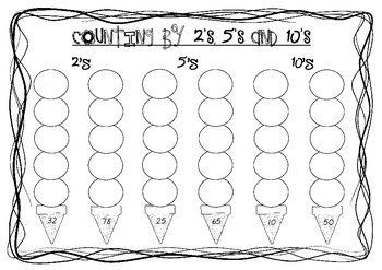 Skip Counting Ice-Creams Worksheets by Miss W's Resources | TpT