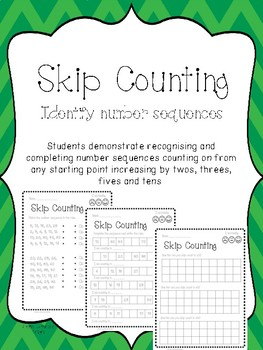 Skip Counting - Identify Number Sequences Worksheet Activity