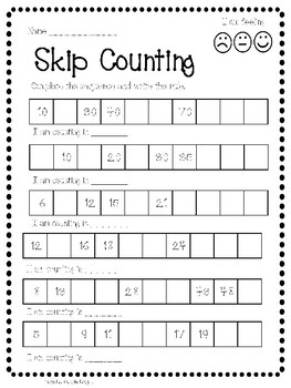 skip counting identify number sequences worksheet activity by pancake designs. Black Bedroom Furniture Sets. Home Design Ideas