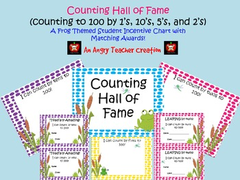 Frog Theme Skip Counting Hall of Fame Incentive Signs with Matching Awards