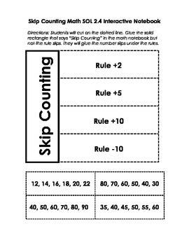 Skip Counting Interactive Notebook