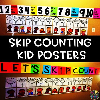 Skip Counting Kid Posters