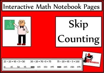 Skip Counting Lesson for Interactive Math Notebooks