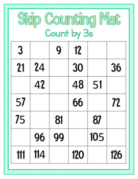 Skip Counting Mat - Count by 3s