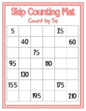Skip Counting Mat - Count by 5s