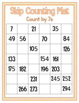 Skip Counting Mat - Count by 7s