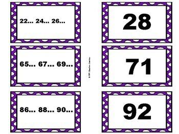 Skip Counting ~ Matching Pairs Math Game!