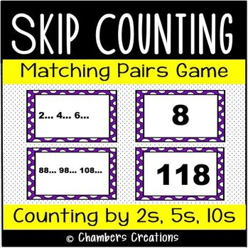 Skip Counting ~ Matching Pairs Game! 54 Cards- 2's, 5's, 10's