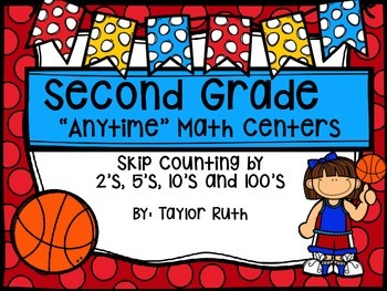Skip Counting Math Centers and Activities with a Basketball Theme