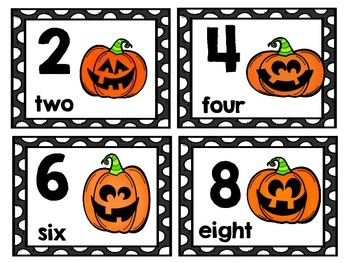 Skip Counting Math Centers and Activities with a Halloween Theme