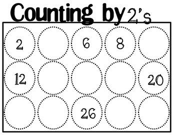 Skip Counting Mats