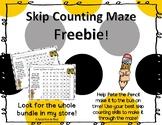 Skip Counting Maze FREEBIE!
