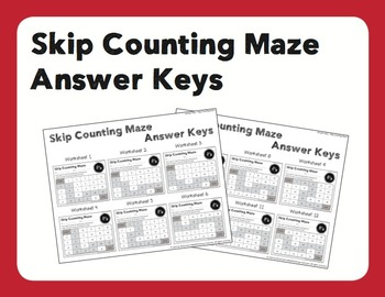 Skip Counting Maze Package (2's, 5's & 10's) [24 Maze Sheets + Answer Keys]