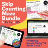 Skip Counting Maze Packet (2's, 5's & 10's) | 24 Maze Prin