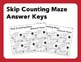 Skip Counting Maze Package (2's, 5's & 10's) [24 Maze Shee