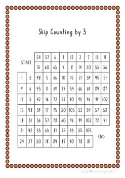 Skip Counting Mazes (2,3,4,7 & 8)