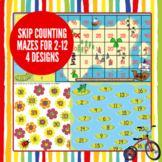 Skip Counting Mazes Activities: Counting by 2s to 12s