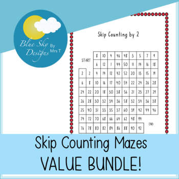 Skip Counting Mazes MINI BUNDLE