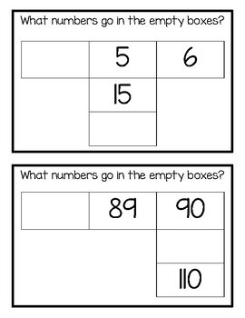 Skip Counting Missing Number Box