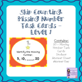 Skip Counting, Missing Numbers Task Cards - Level 1