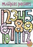 Skip Counting Multiples Posters 1-12