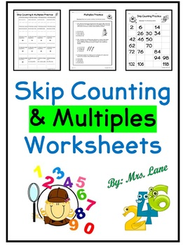 Skip Counting & Multiples Worksheets