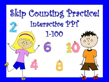 Skip Counting/Multiplication Strategy/Hundred Chart Interactive Powerpoint