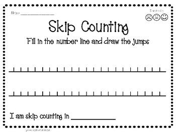 Skip Counting Worksheet: Number Line Jump Activity