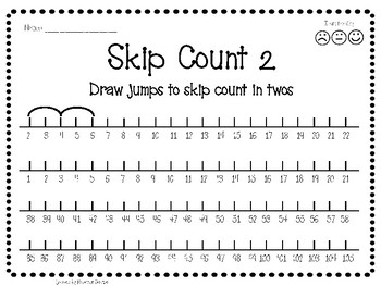 skip counting worksheet number line jump activity by. Black Bedroom Furniture Sets. Home Design Ideas