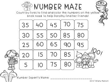 Skip Counting Number Mazes {Counting by 5s and 10s}