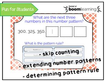 Skip Counting & Number Pattern Grade 3 - BOOM Cards