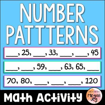 Skip Counting Number Patterns Math Center
