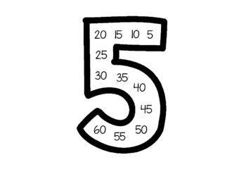 Skip Counting Number Posters Black - Maths Posters