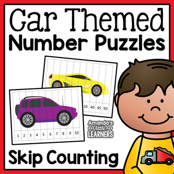 Skip Counting Number Puzzles - Cars