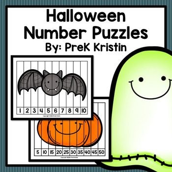 Skip Counting Number Puzzles: Halloween Theme