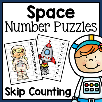 Skip Counting Number Puzzles - Space