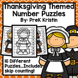 Thanksgiving Skip Counting Number Puzzles