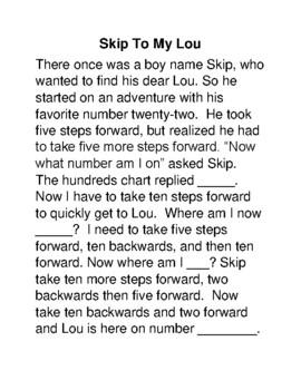 Skip-Counting Number Sense Poem