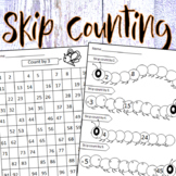 Skip Counting Numbers  2, 3,4 & 5 - Worksheets & Flashcards