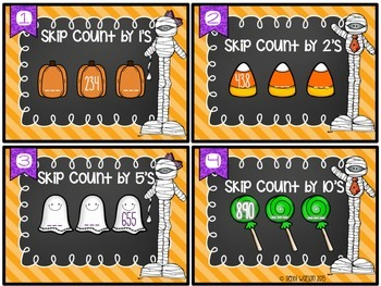 Skip Counting Numbers Place Value Task Cards Flex Set 2.NBT.2