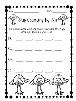 Skip Counting Part 2 by 2's, 5's, 10's & 100's