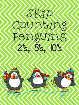 Skip Counting Penguins- 2's, 5's, 10's