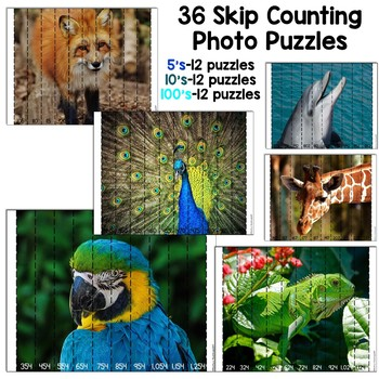 Skip Counting Photo Puzzles (5's, 10's, 100's)