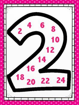 Skip Counting Posters 1-12