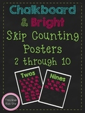 Skip Counting Posters 2-10 ~ Chalkboard & Bright