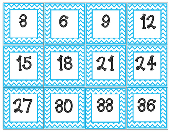 Skip Counting Posters (2-12)
