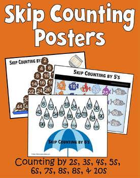 skip counting posters 2s10s kindergarten 1st grade 2nd grade 3rd grade. Black Bedroom Furniture Sets. Home Design Ideas